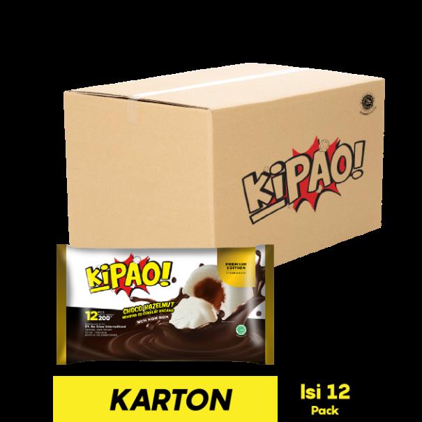 KIPAO MINIPAO CHOCO HAZELNUT 12 PCS 200 GR
