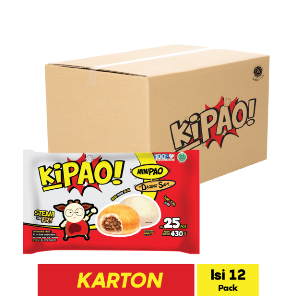 KIPAO MINIPAO DAGING SAPI 25 PCS 430 GR