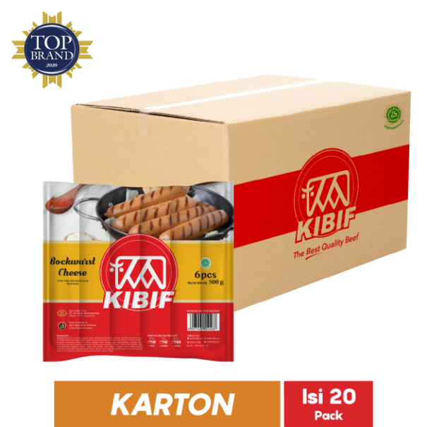 KIBIF BOCKWURST CHEESE 6 PCS 500 GR