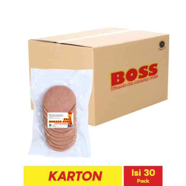 BOSS BURGER AYAM 10 PCS 280 GR
